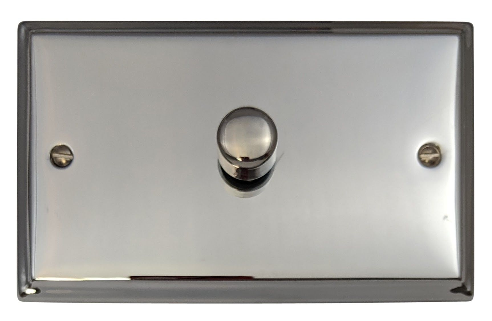 G&H DC16 Deco Plate Polished Chrome 1 Gang 1 or 2 Way 700W Dimmer Switch Double Plate
