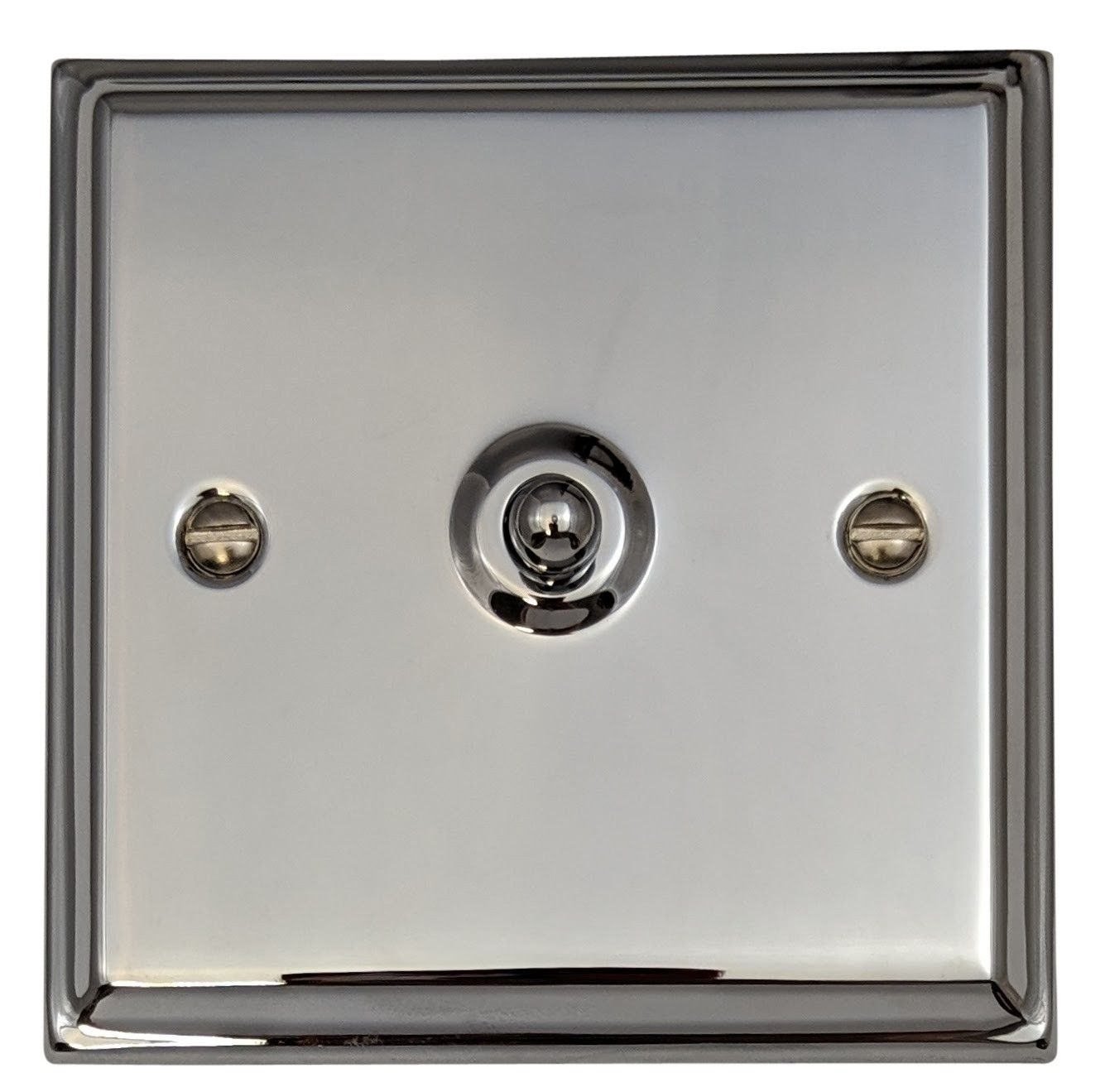 G&H DC281 Deco Plate Polished Chrome 1 Gang 1 or 2 Way Toggle Light Switch