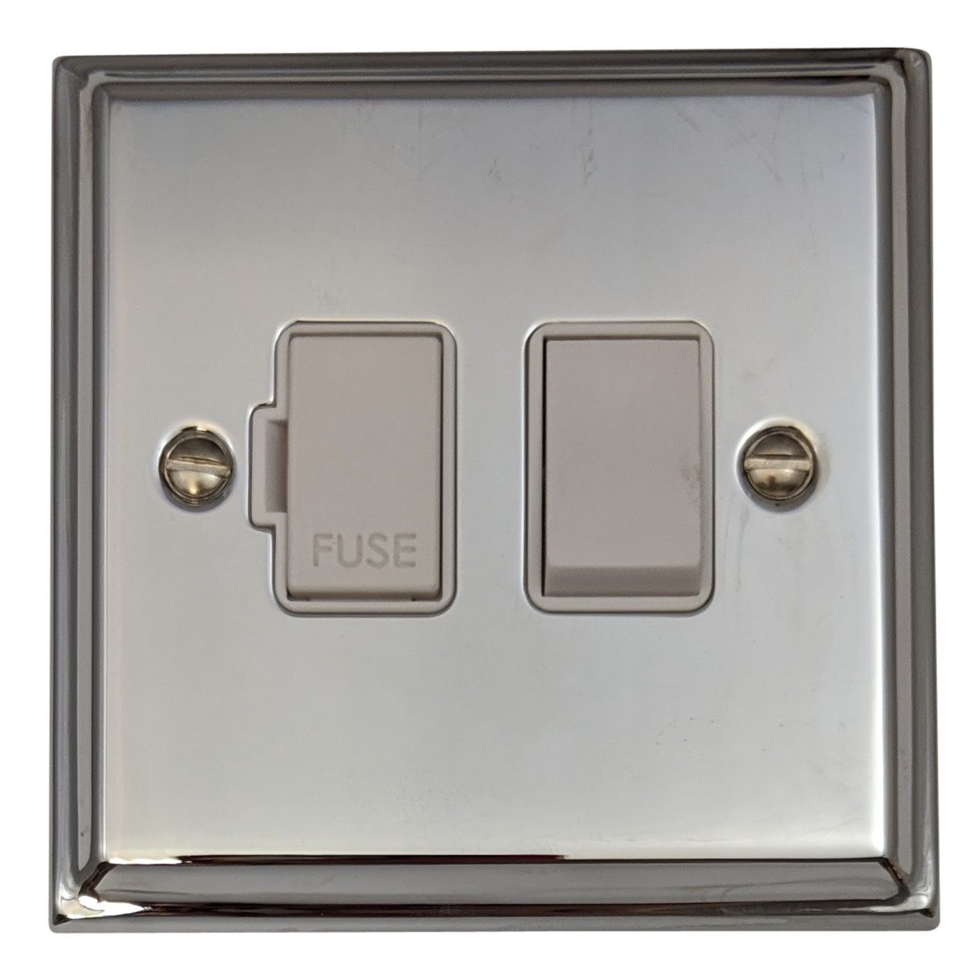 G&H DC57W Deco Plate Polished Chrome 1 Gang Fused Spur 13A Switched