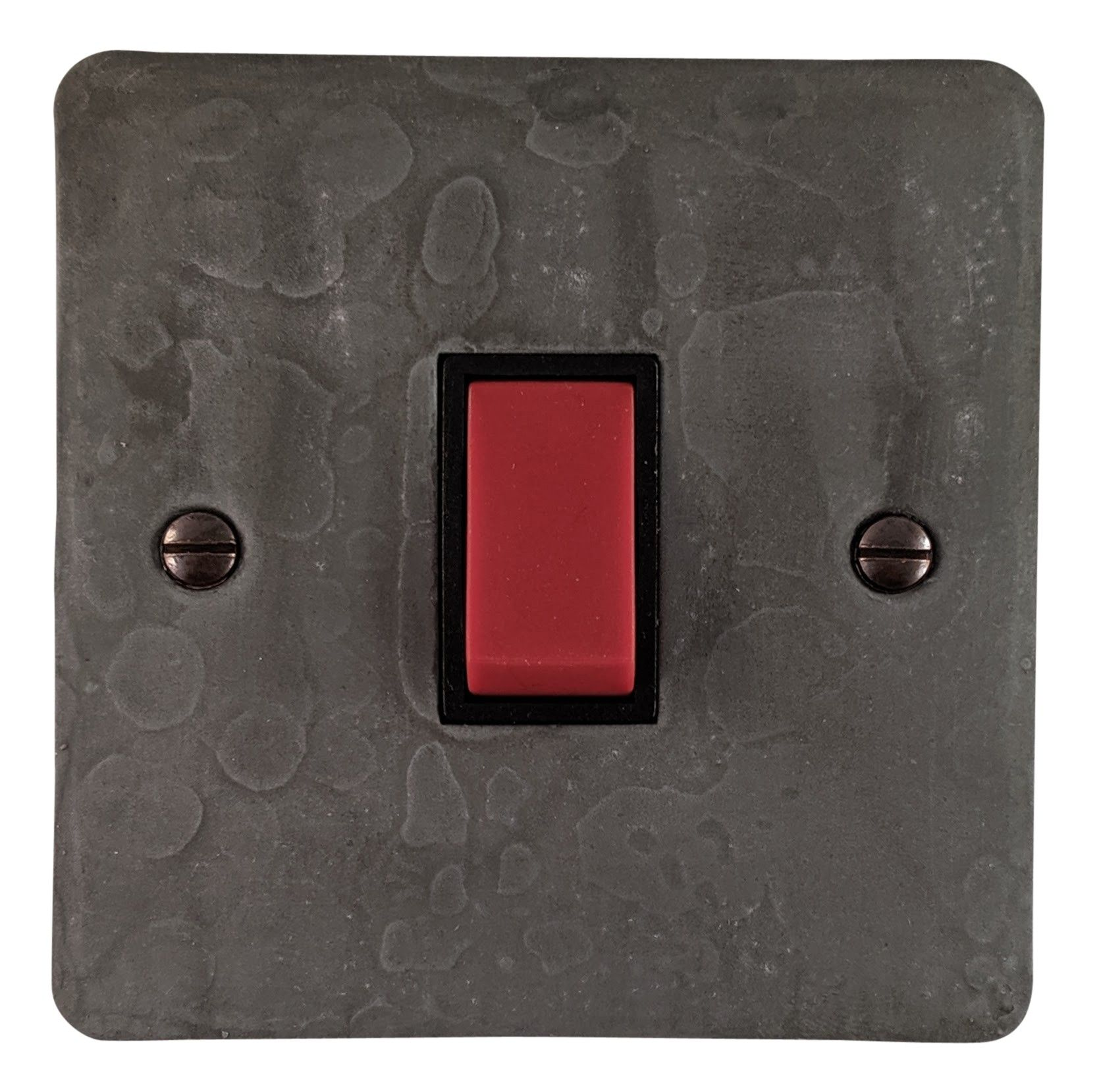 G&H FRP47B Flat Plate Rustic Pewter 45 Amp DP Cooker Switch Single Plate