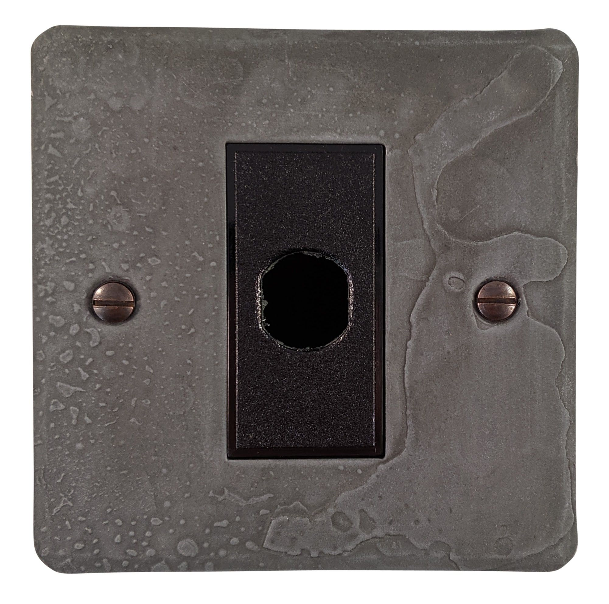 G&H FRP79B Flat Plate Rustic Pewter 1 Gang Flex Outlet Plate