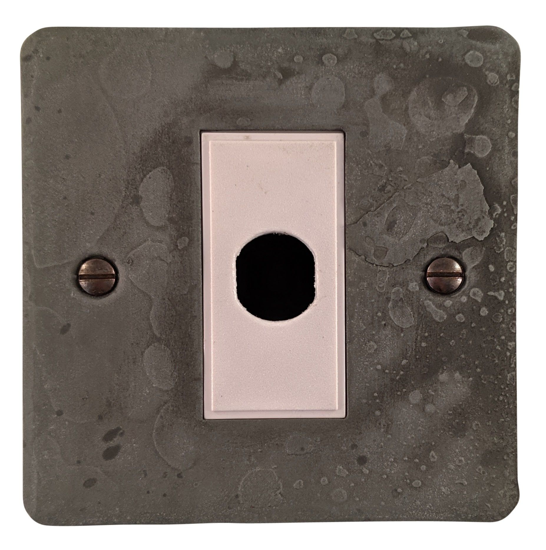G&H FRP79W Flat Plate Rustic Pewter 1 Gang Flex Outlet Plate