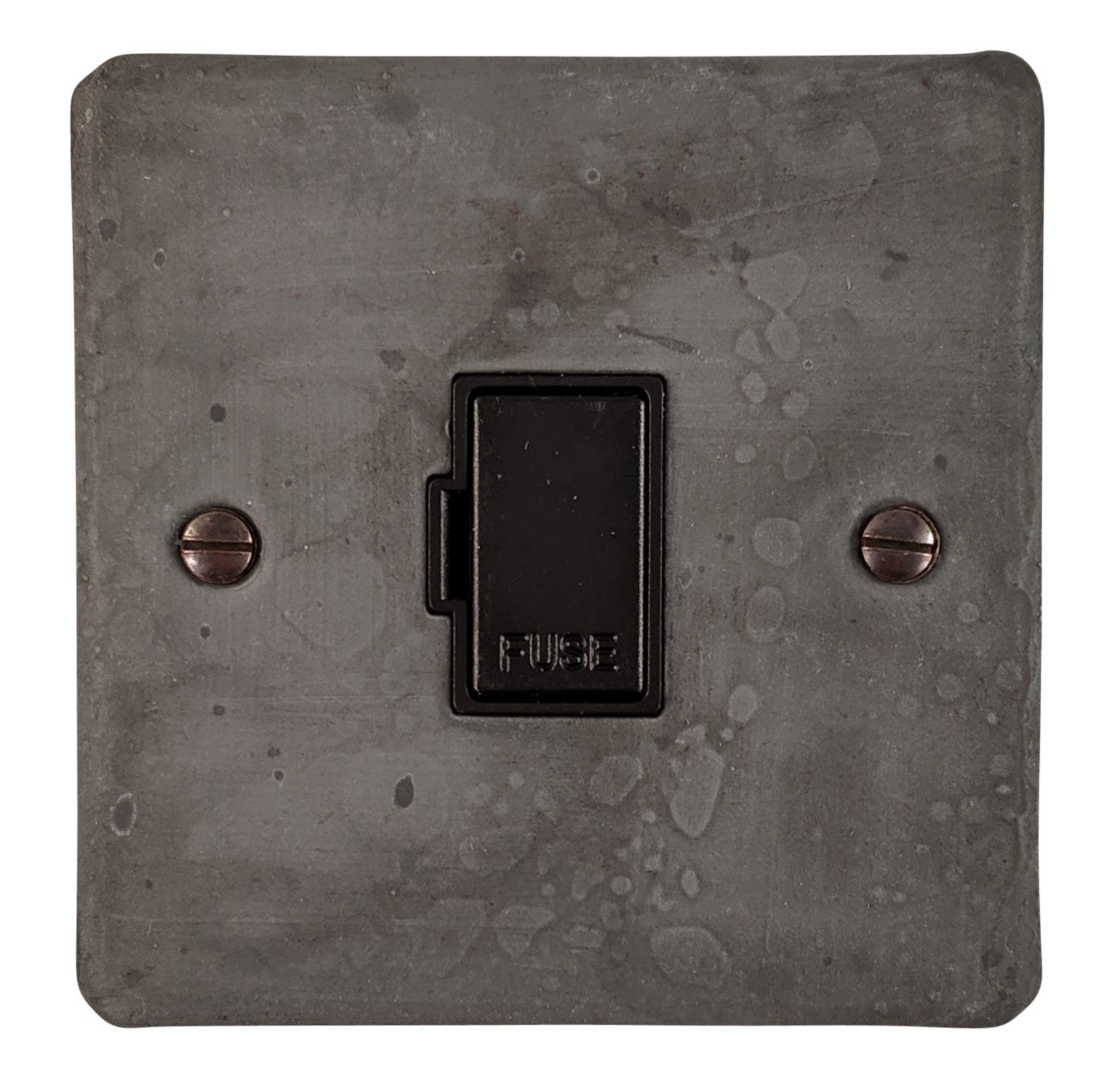G&H FRP90B Flat Plate Rustic Pewter 1 Gang Fused Spur 13A Unswitched