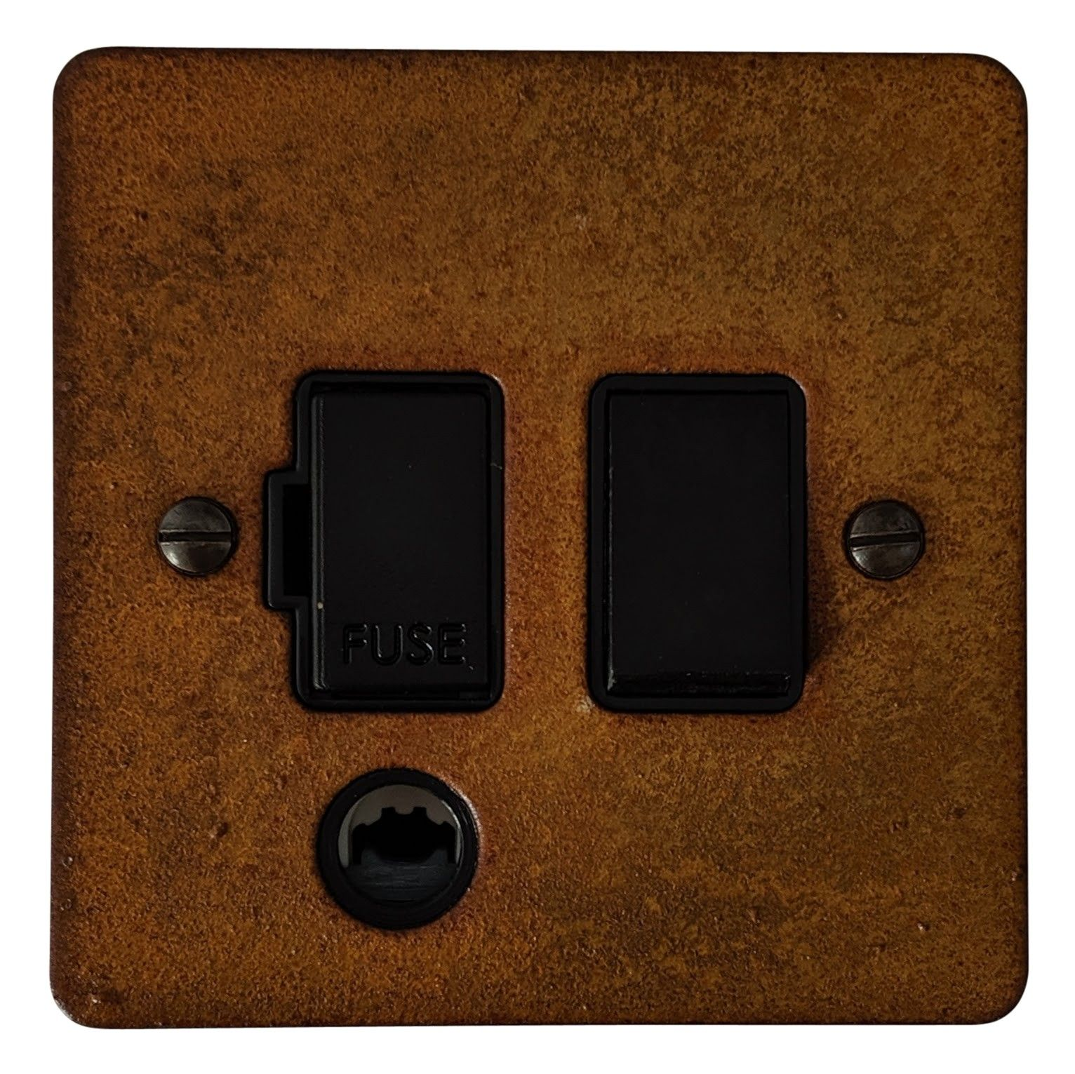 G&H FRT56B Flat Plate Rust 1 Gang Fused Spur 13A Switched & Flex Outlet