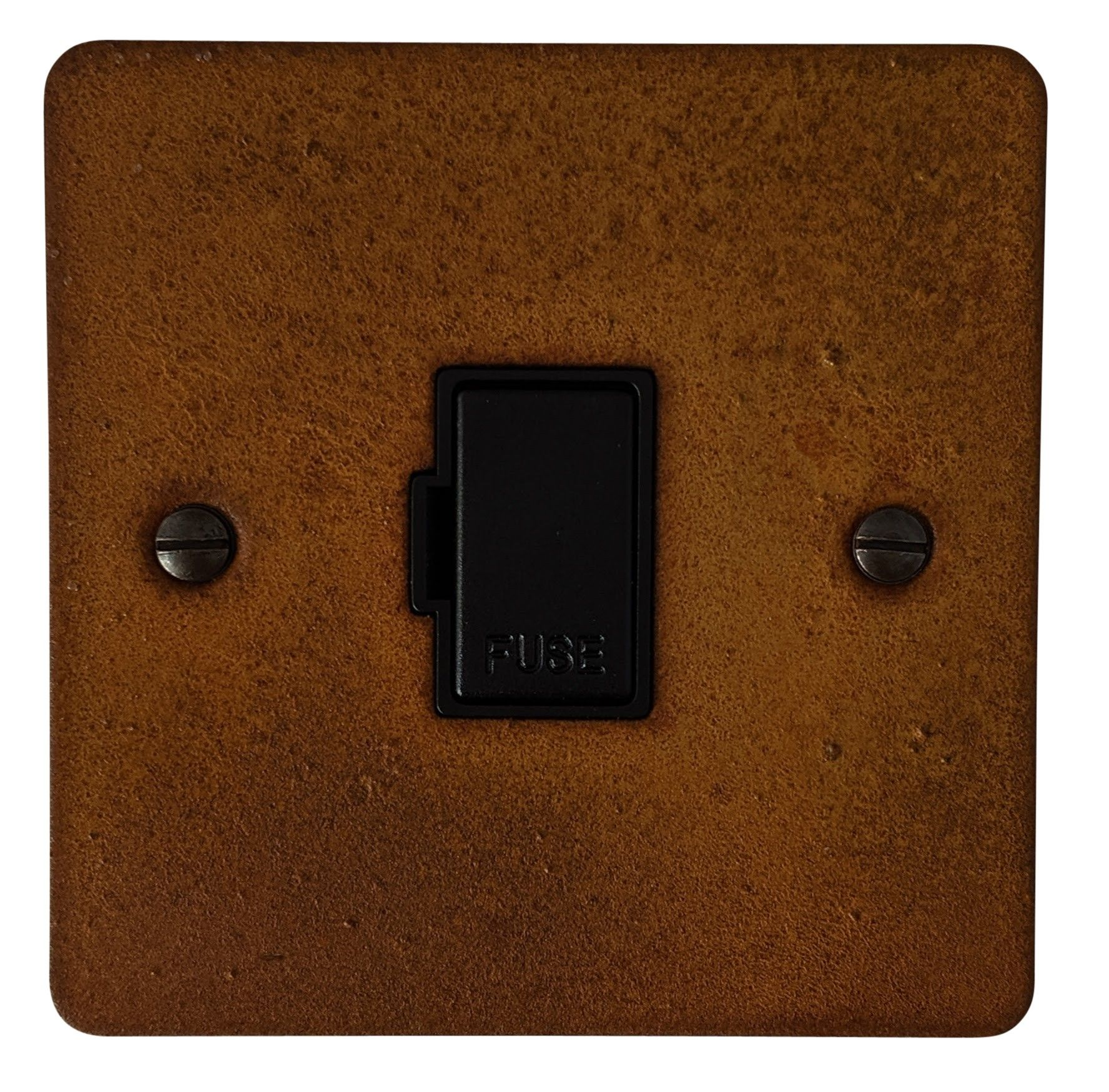 G&H FRT90B Flat Plate Rust 1 Gang Fused Spur 13A Unswitched
