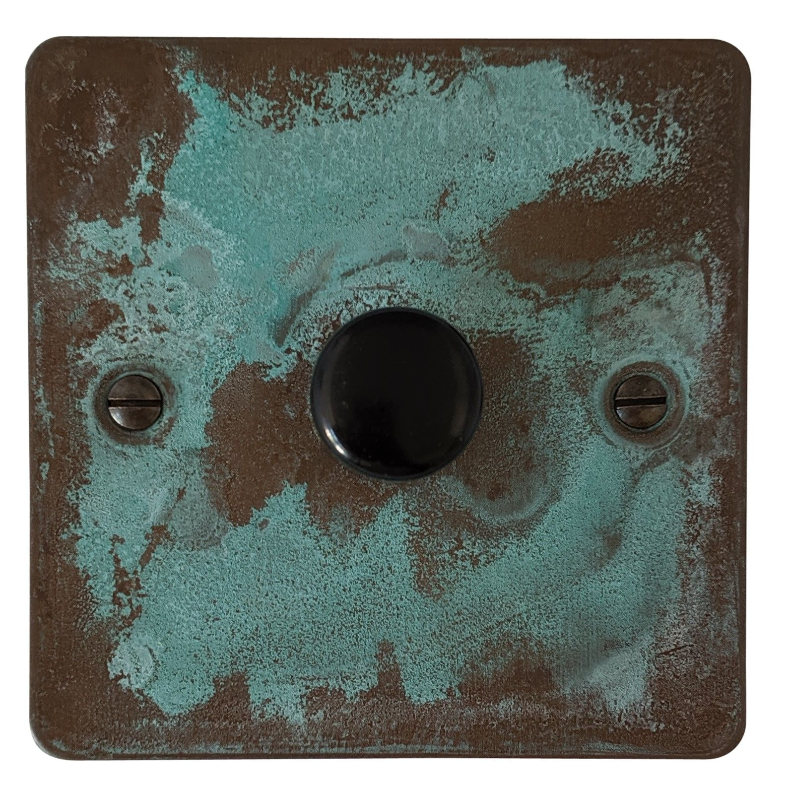 G&H FV11 Flat Plate Verdigris 1 Gang 1 or 2 Way 40-400W Dimmer Switch