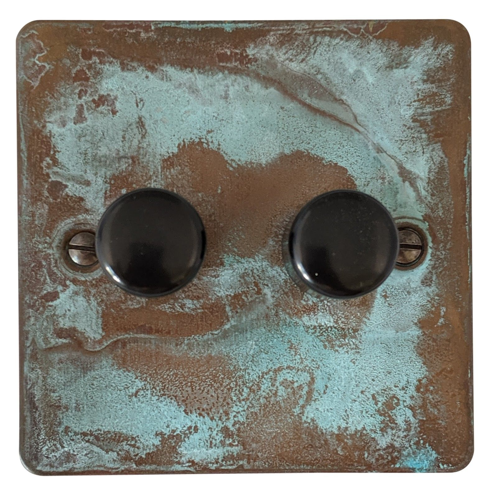 G&H FV12 Flat Plate Verdigris 2 Gang 1 or 2 Way 40-400W Dimmer Switch