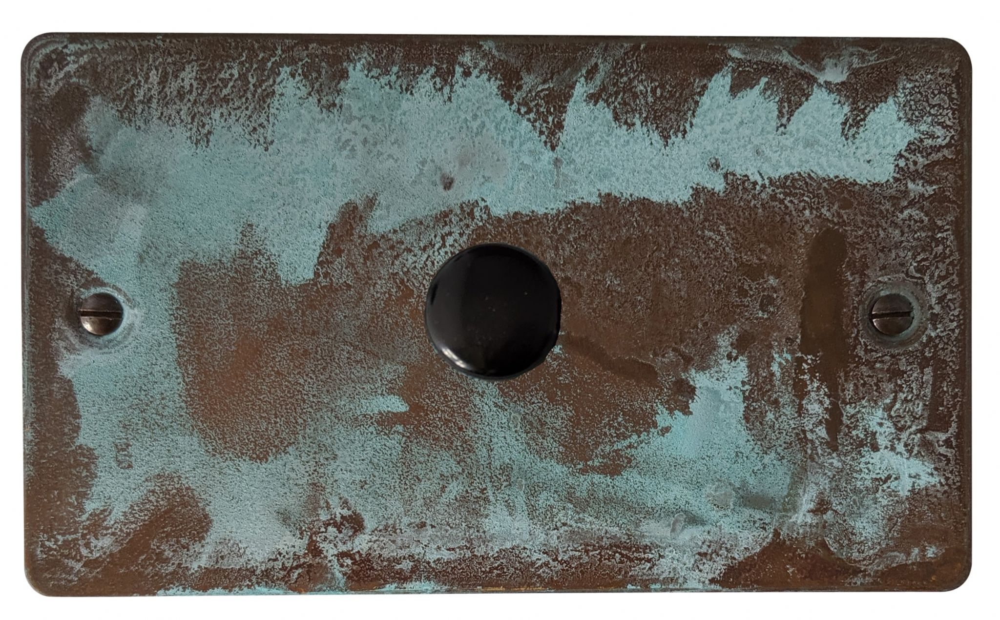 G&H FV16 Flat Plate Verdigris 1 Gang 1 or 2 Way 700W Dimmer Switch Double Plate