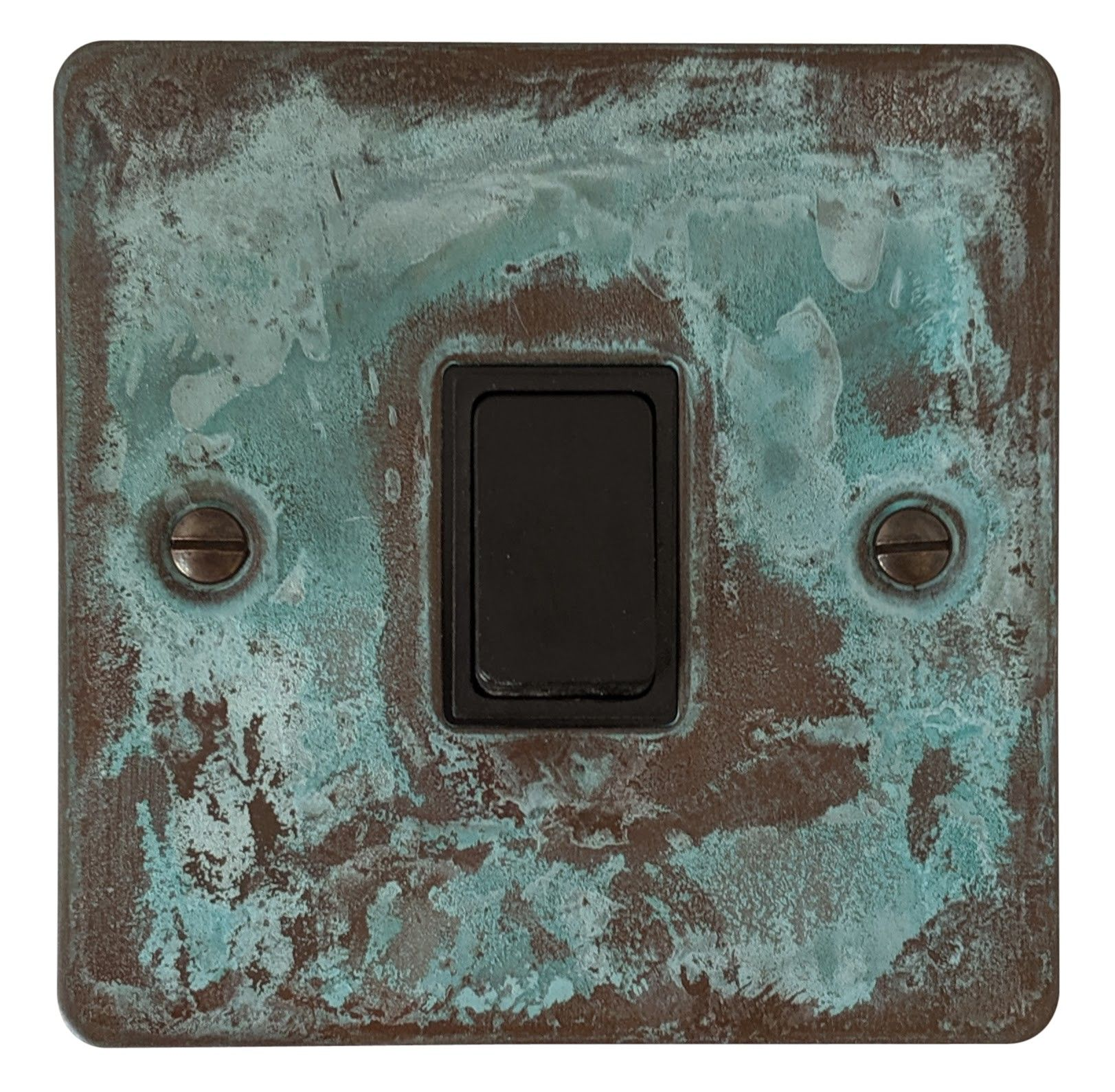 G&H FV1B Flat Plate Verdigris 1 Gang 1 or 2 Way Rocker Light Switch