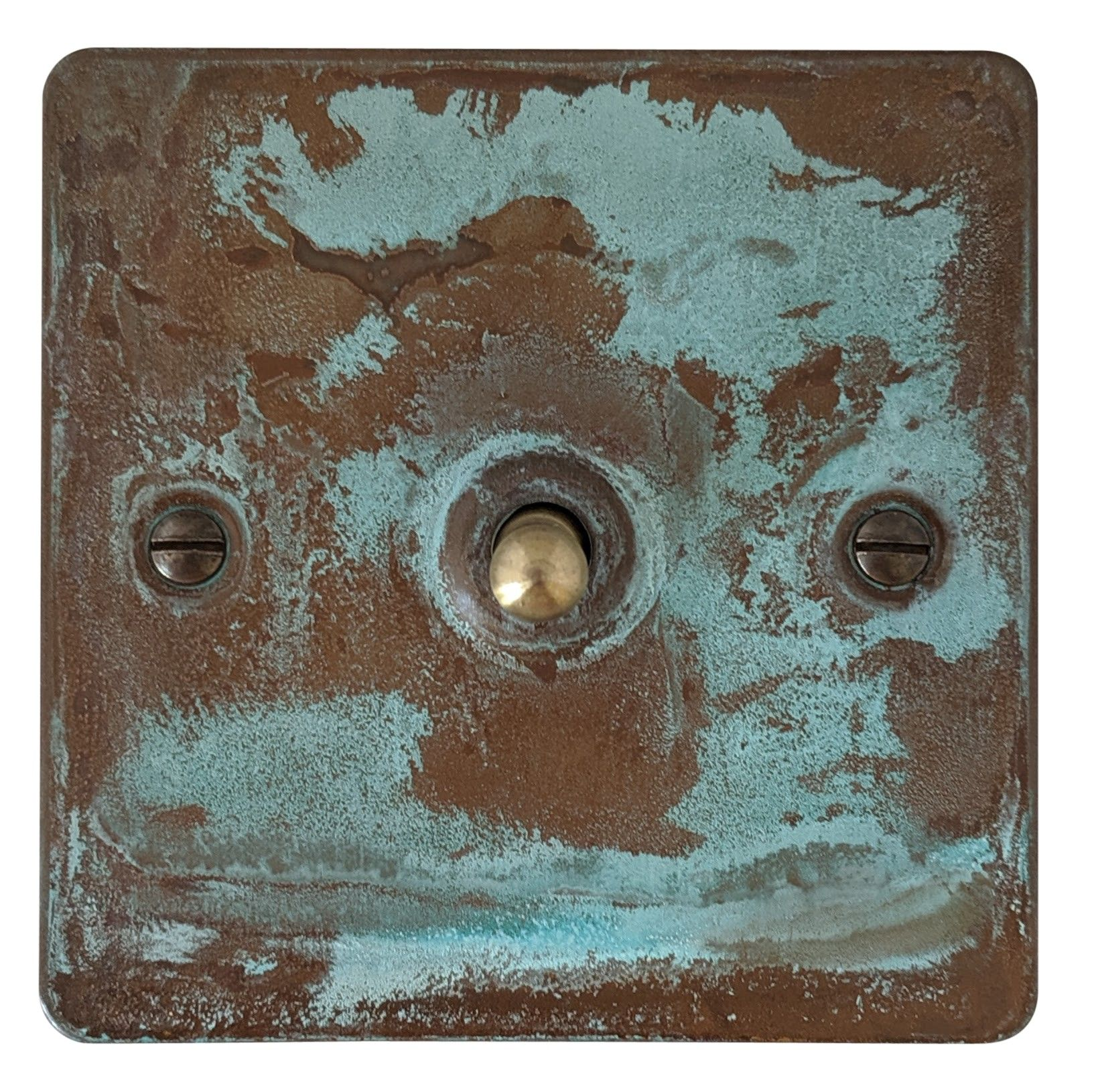 G&H FV281 Flat Plate Verdigris 1 Gang 1 or 2 Way Toggle Light Switch
