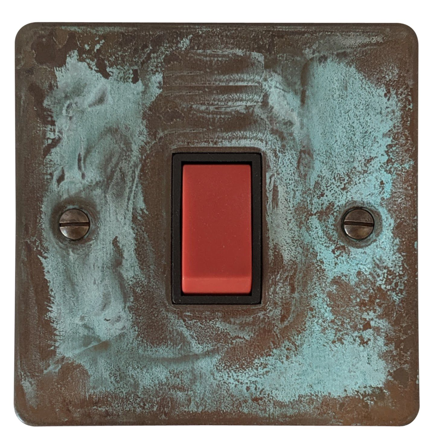 G&H FV47B Flat Plate Verdigris 45 Amp DP Cooker Switch Single Plate