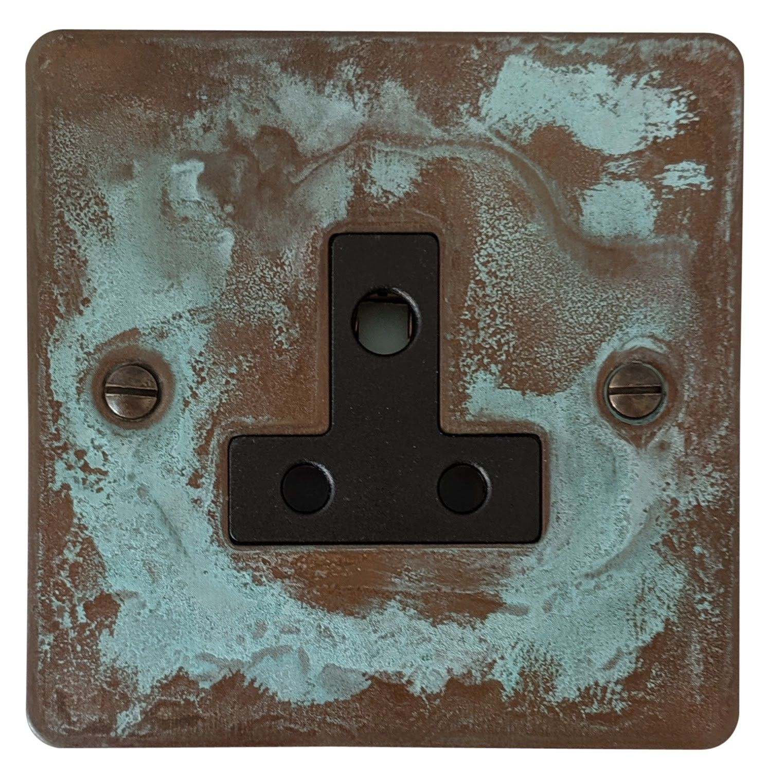 G&H FV59B Flat Plate Verdigris 1 Gang Single 5 Amp Plug Socket