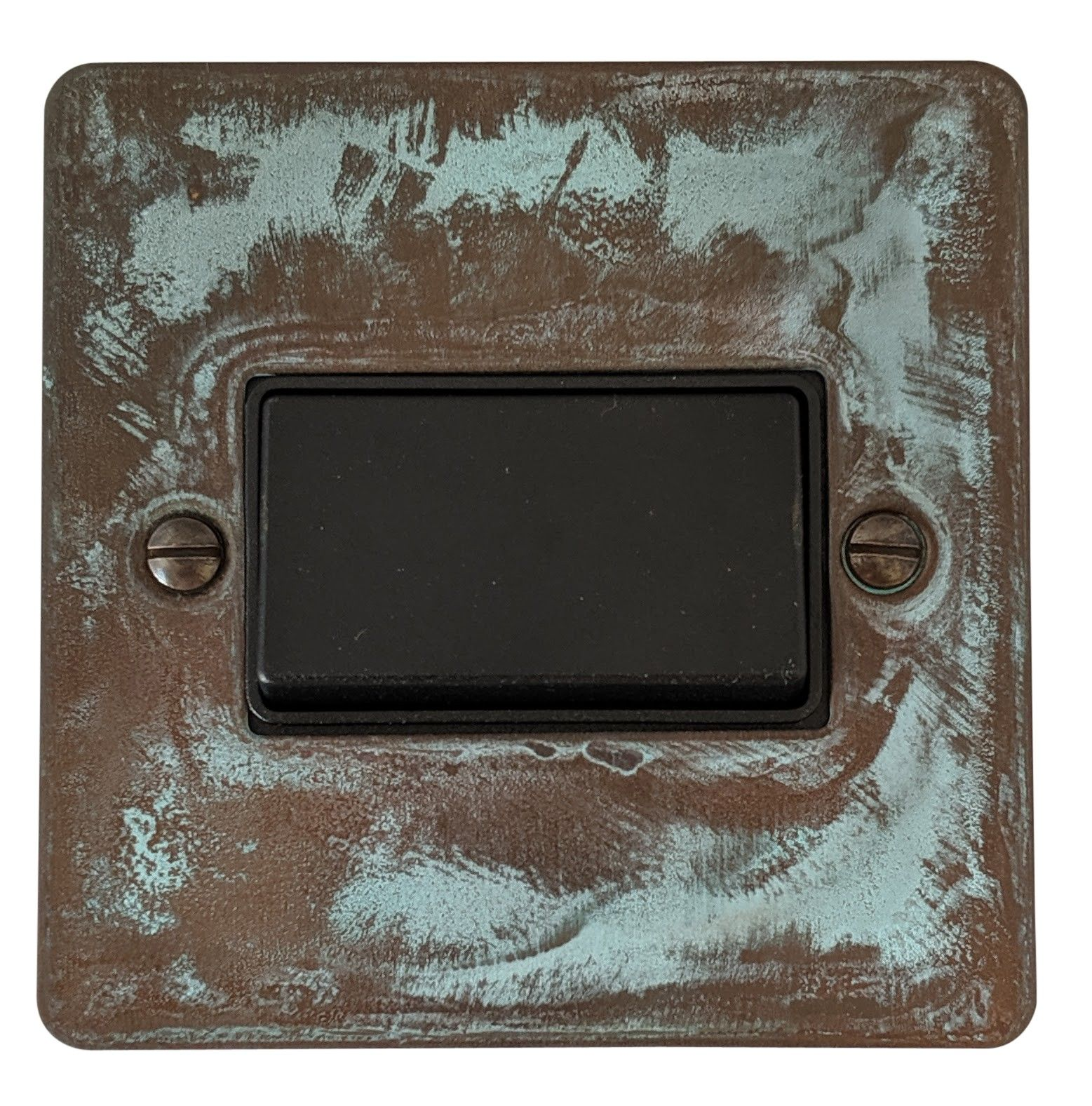 G&H FV69B Flat Plate Verdigris 1 Gang Triple Pole 10A Fan Isolator Switch