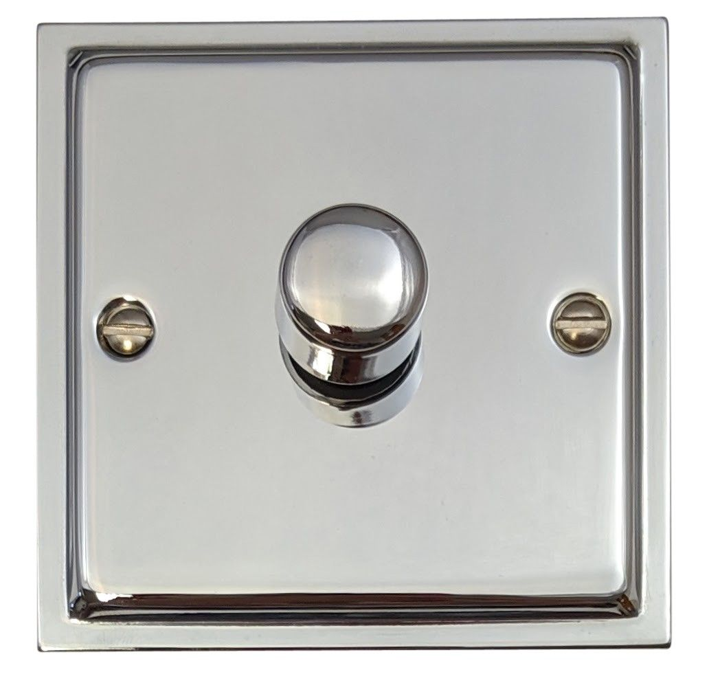 G&H HC11 Highline Plate Polished Chrome 1 Gang 1 or 2 Way 40-400W Dimmer Switch
