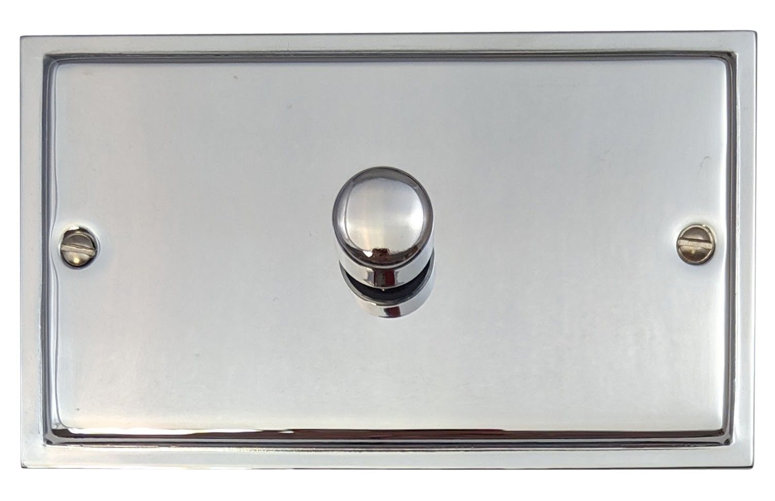 G&H HC16 Highline Plate Polished Chrome 1 Gang 1 or 2 Way 700W Dimmer Switch Double Plate