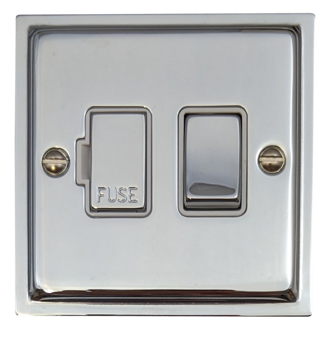 G&H HC257 Highline Plate Polished Chrome 1 Gang Fused Spur 13A Switched
