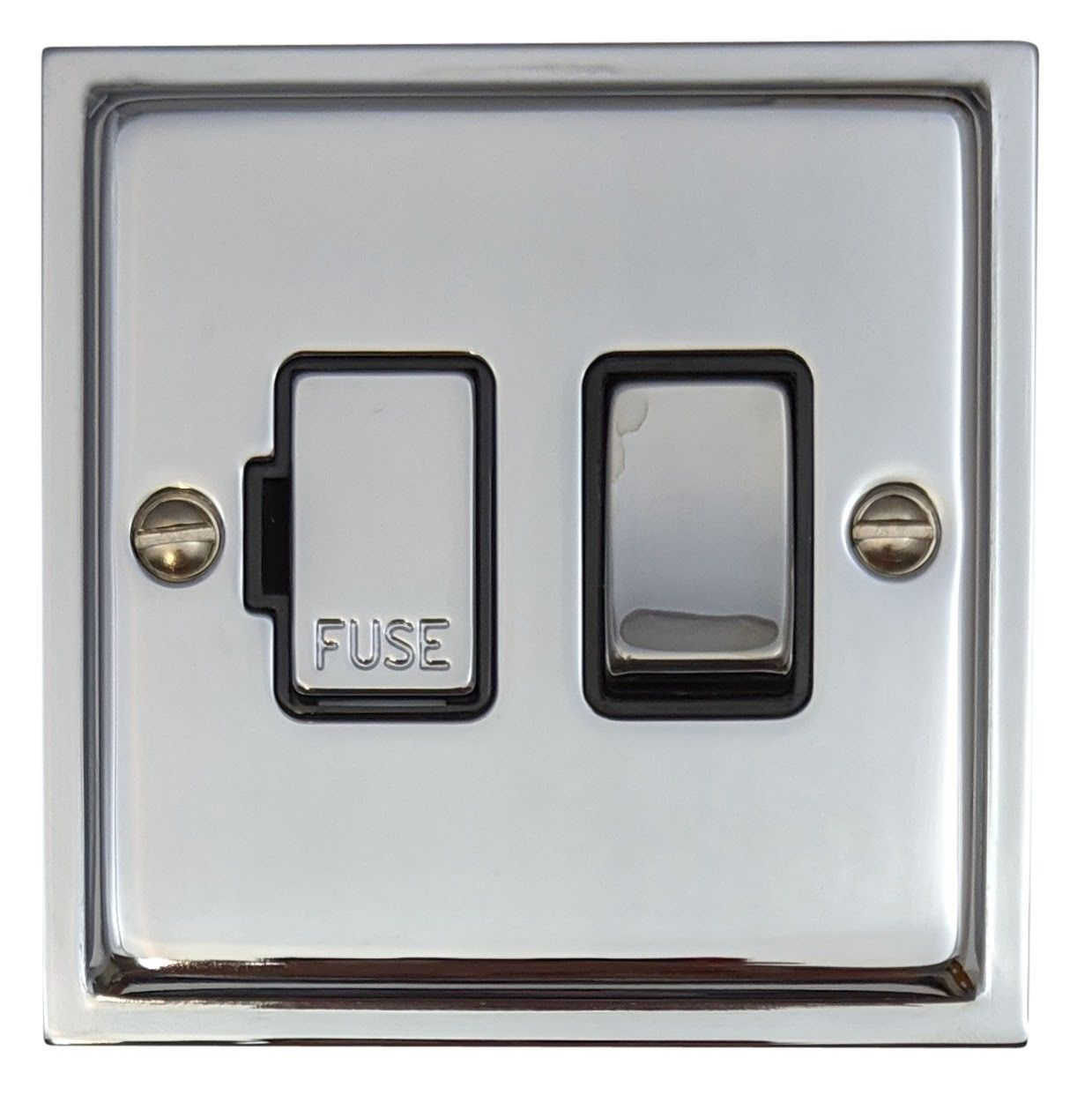 G&H HC357 Highline Plate Polished Chrome 1 Gang Fused Spur 13A Switched