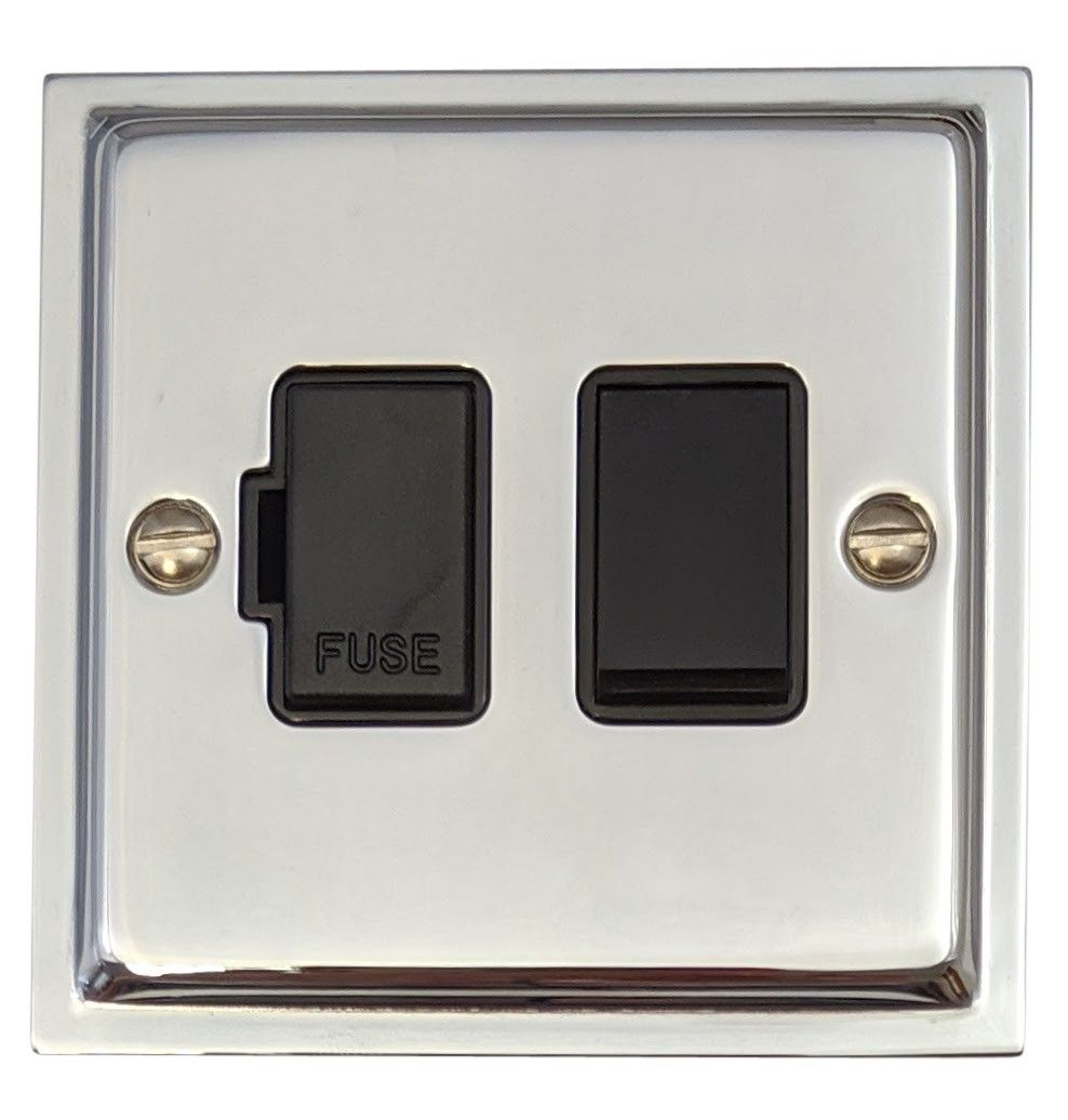 G&H HC57B Highline Plate Polished Chrome 1 Gang Fused Spur 13A Switched