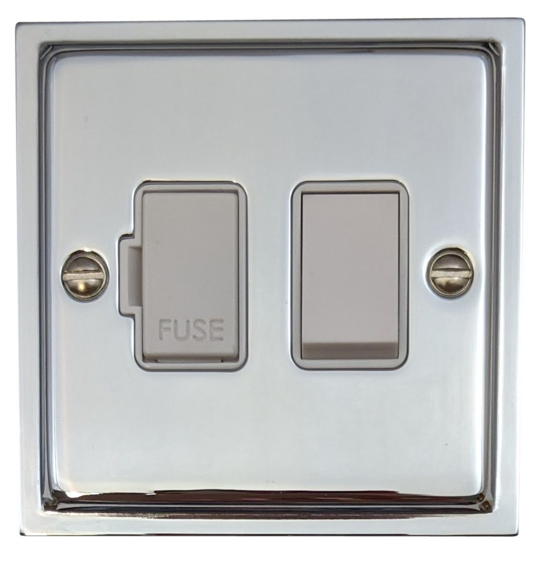 G&H HC57W Highline Plate Polished Chrome 1 Gang Fused Spur 13A Switched