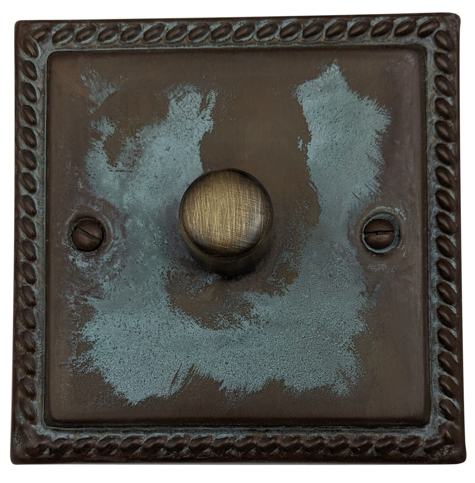 G&H MV11 Monarch Roped Verdigris 1 Gang 1 or 2 Way 40-400W Dimmer Switch