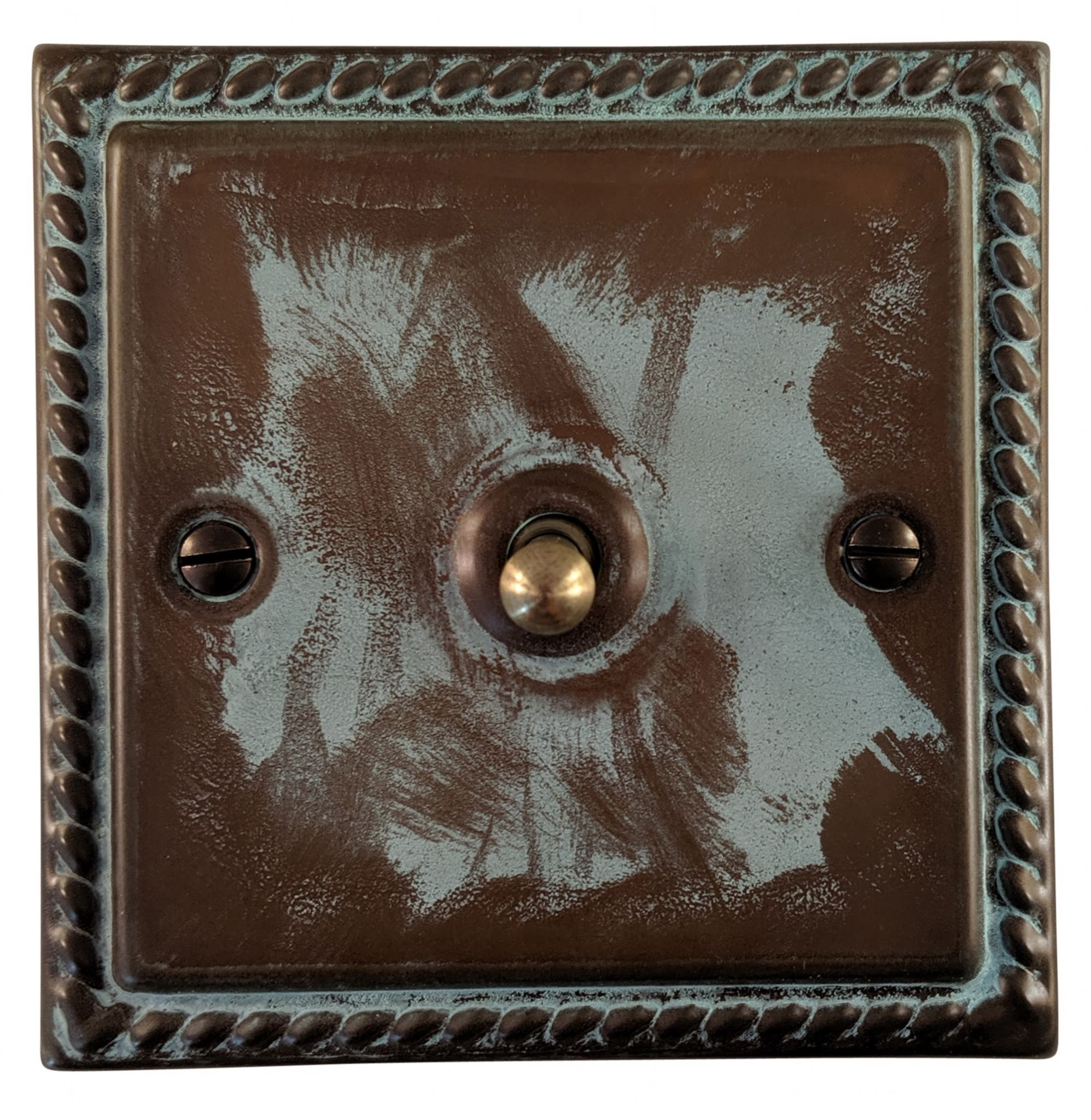 G&H MV281 Monarch Roped Verdigris 1 Gang 1 or 2 Way Toggle Light Switch