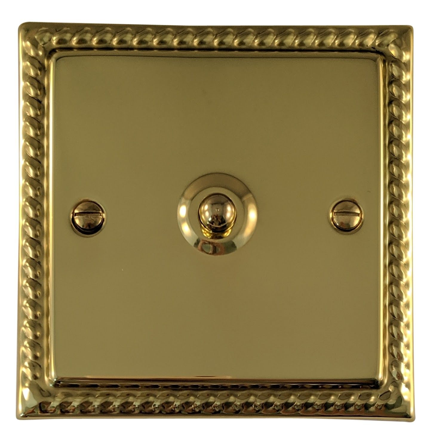 G&H MB281 Monarch Roped Polished Brass 1 Gang 1 or 2 Way Toggle Light Switch