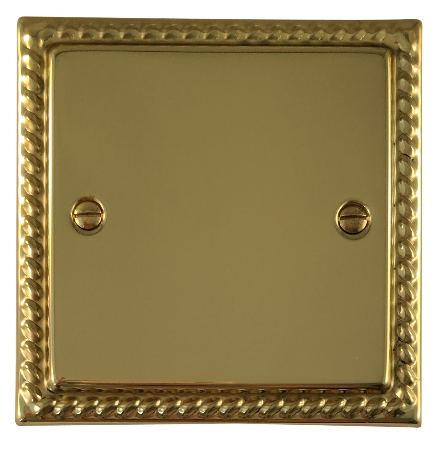 G&H MB31 Monarch Roped Polished Brass 1 Gang Single Blank Plate