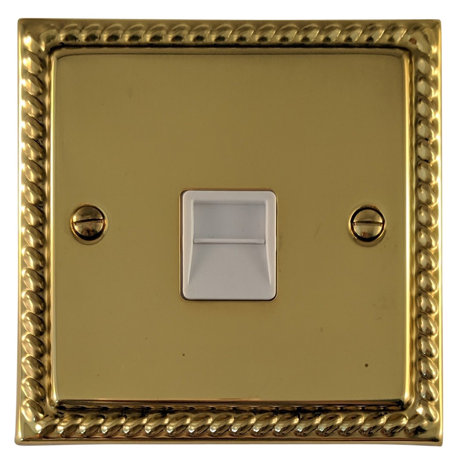 G&H MB33W Monarch Roped Polished Brass 1 Gang Master BT Telephone Socket
