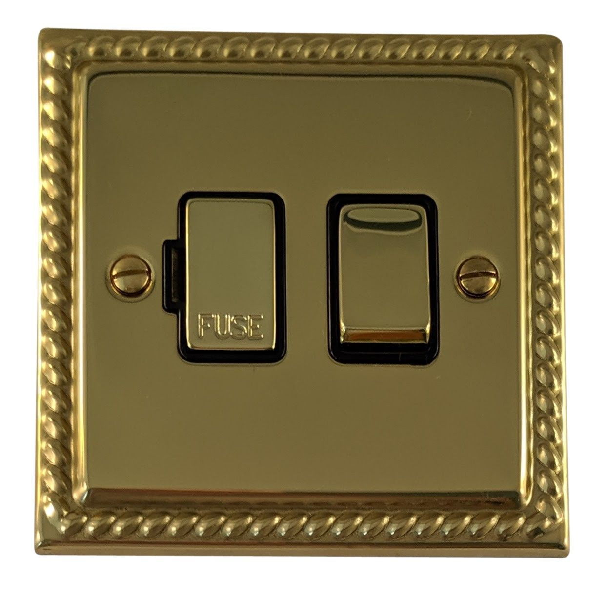 G&H MB357 Monarch Roped Polished Brass 1 Gang Fused Spur 13A Switched
