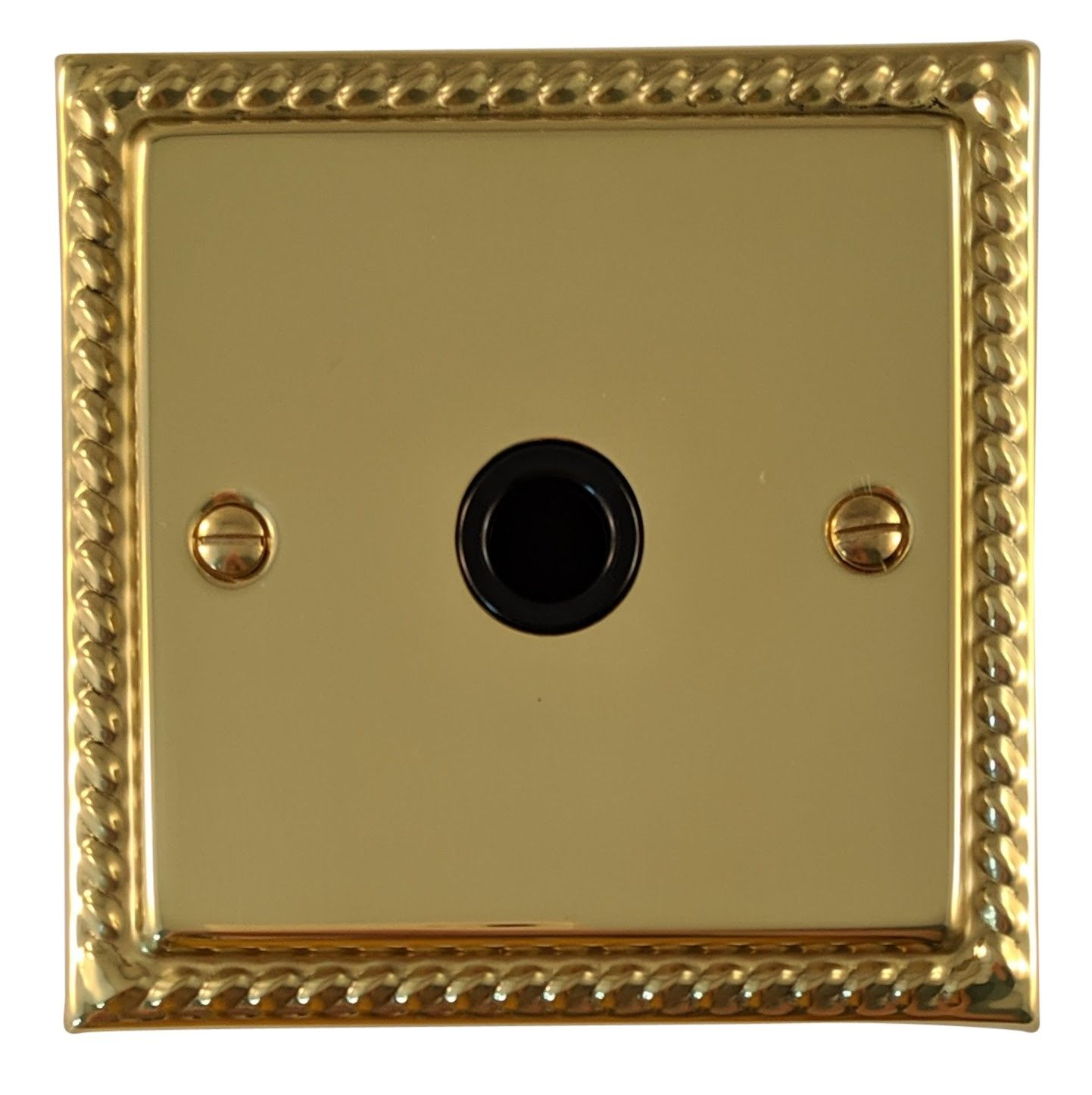 G&H MB79B Monarch Roped Polished Brass 1 Gang Flex Outlet Plate