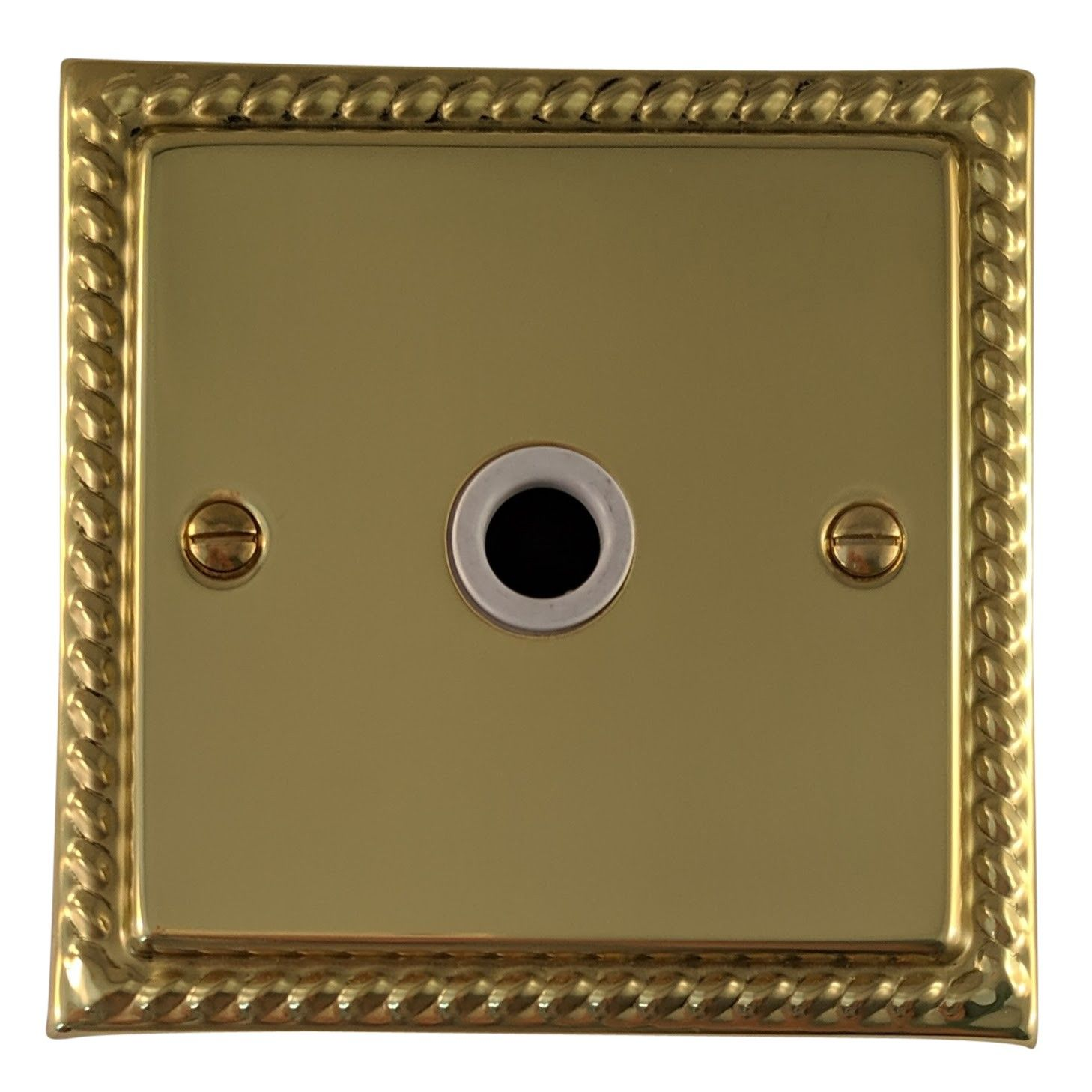 G&H MB79W Monarch Roped Polished Brass 1 Gang Flex Outlet Plate