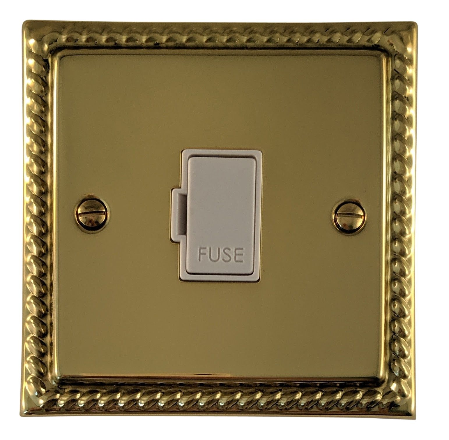 G&H MB90W Monarch Roped Polished Brass 1 Gang Fused Spur 13A Unswitched